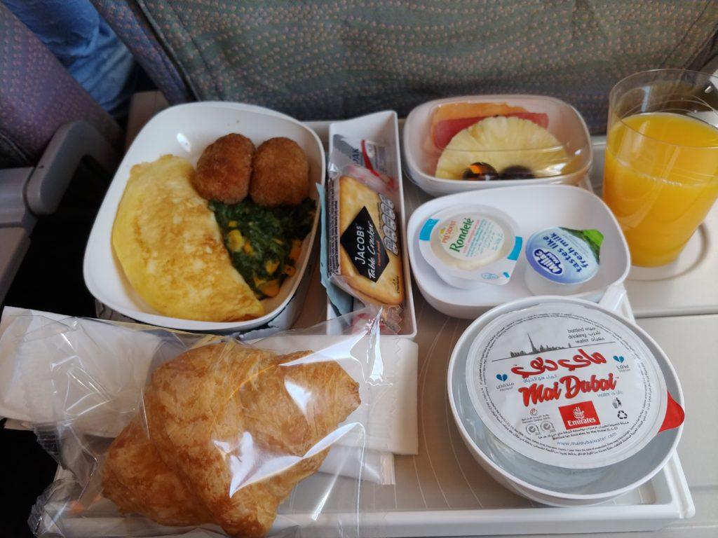 機内食の食事