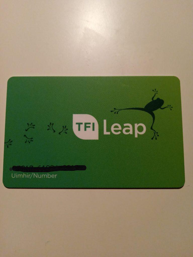 leapカードの表面