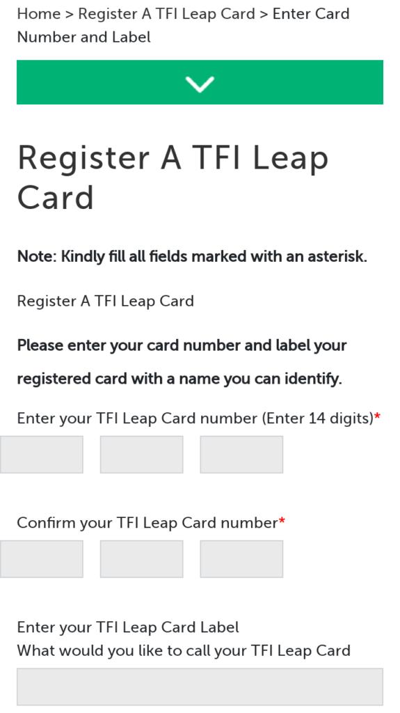 ウェブサイト上のカード登録場面