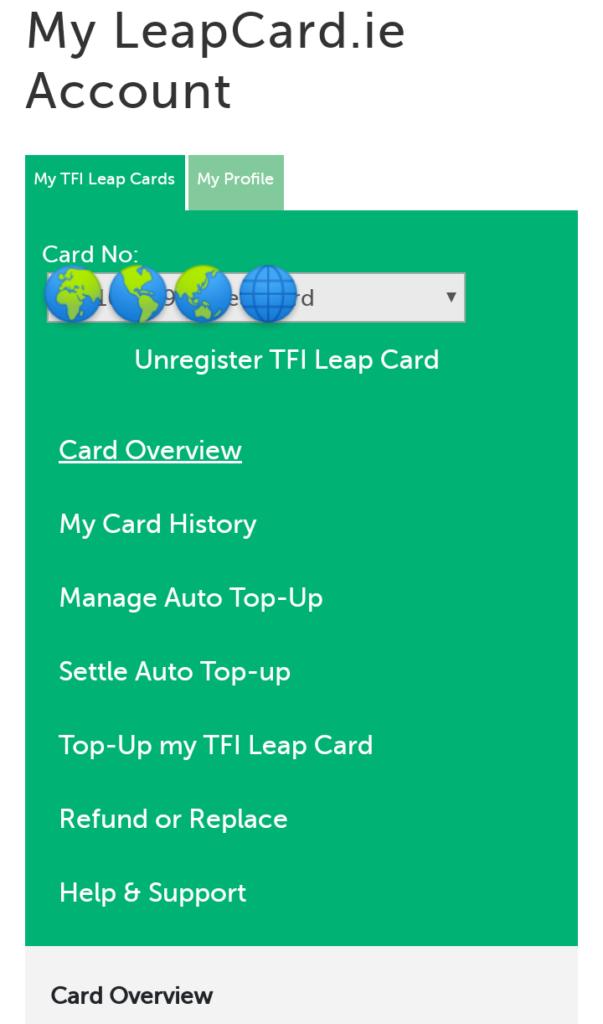 ウェブサイト上の登録画面