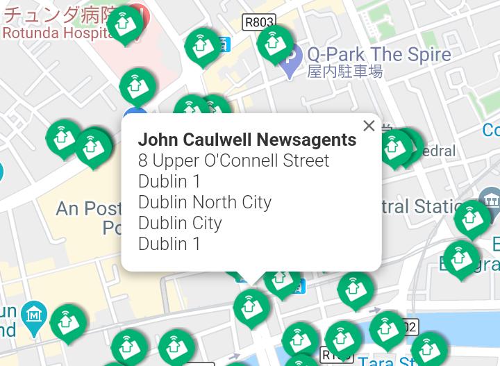 ウェブサイトの地図上の住所