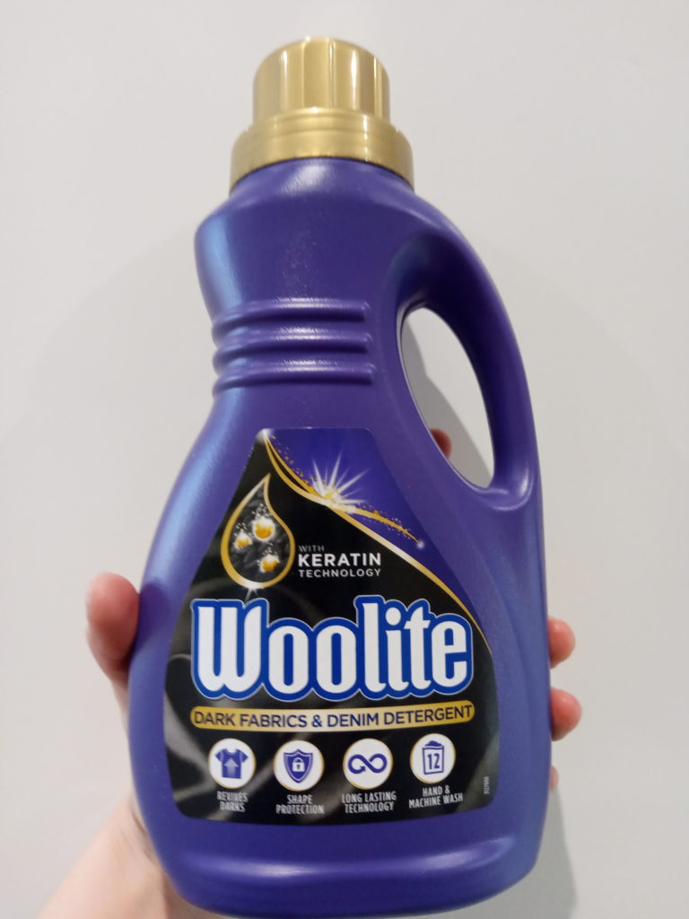デニム専用洗濯洗剤のボトル